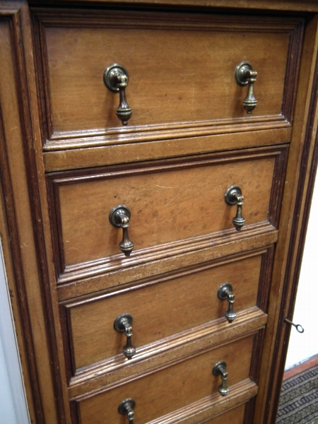 Antique Victorian Mahogany Wellington Chest