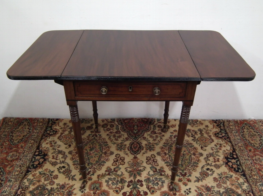 Antique George IV Mahogany Neat Sized Pembroke Table