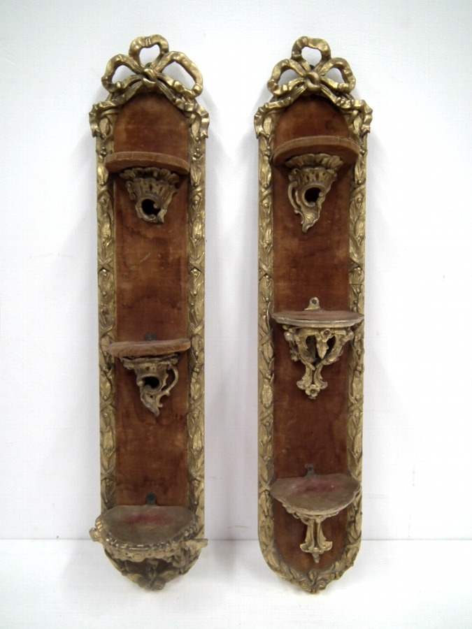 Pair of Carved and Gilded Wall Brackets