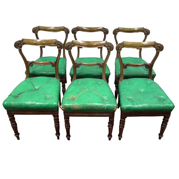 Set of 6 George IV Mahogany Dining Chairs