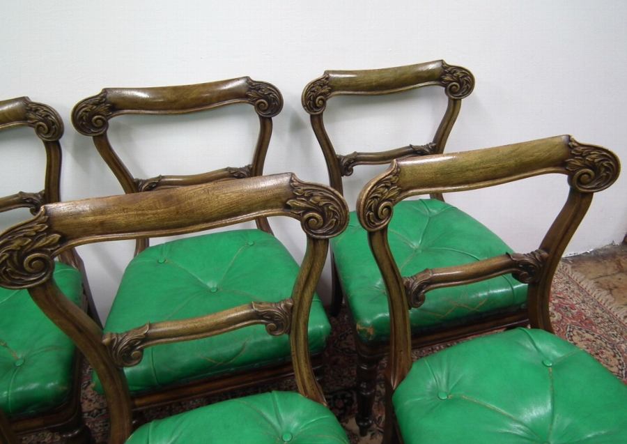 Antique Set of 6 George IV Mahogany Dining Chairs