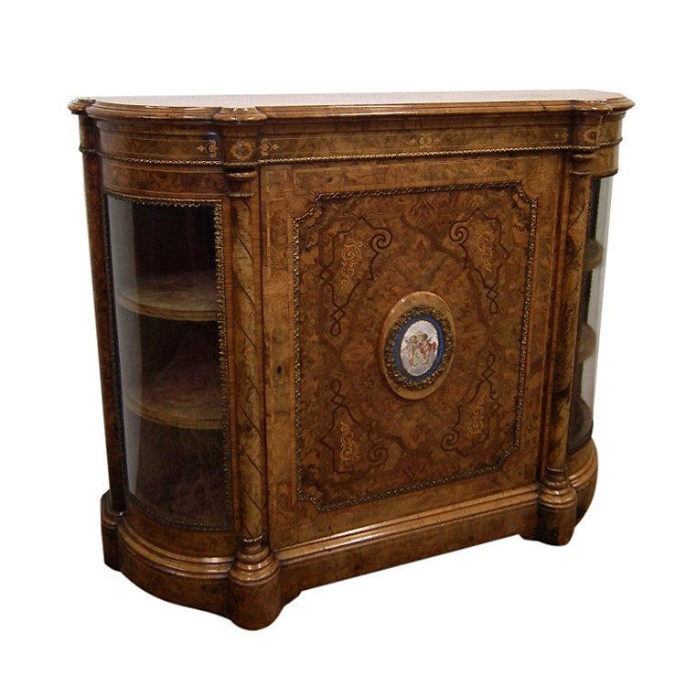 Exhibition Quality Victorian Burr Walnut Credenza