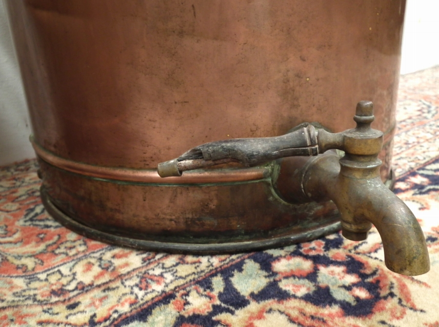Antique Large Pair of Copper Hot Water/Tea Urns