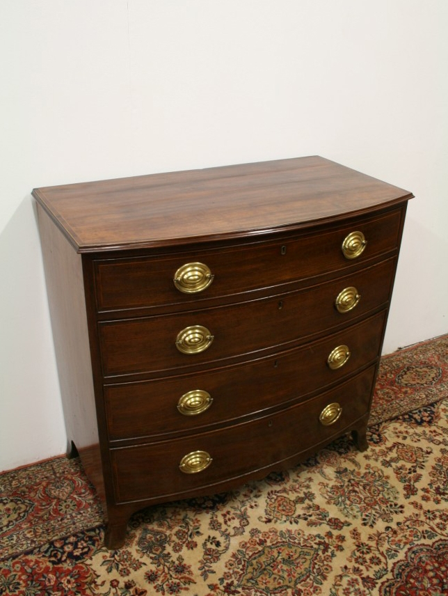 Late George III Bow Fronted Chest of Drawers