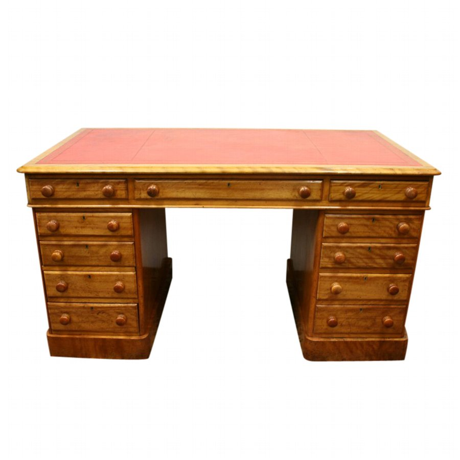 Victorian Satin Birch Partners Desk