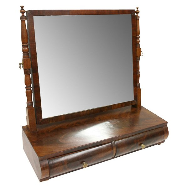 Spanish Figured Mahogany Dressing Mirror