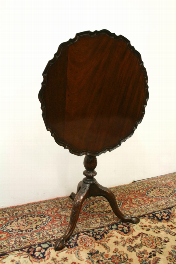 Antique Chippendale Style Snap Top Table