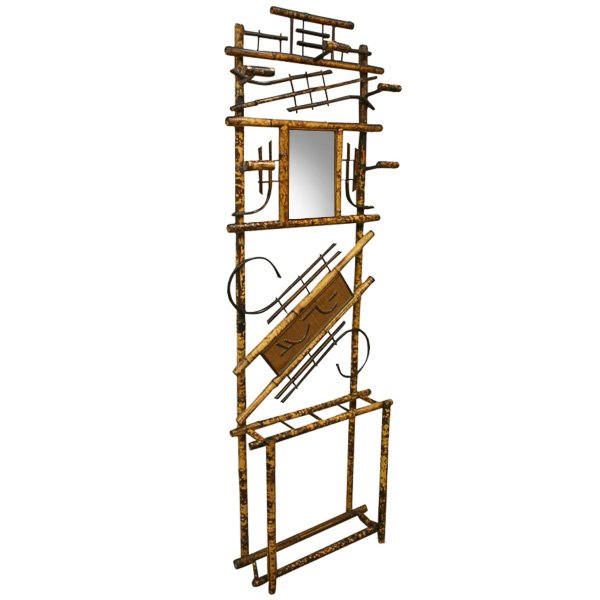 Unusual Chinese Style Bamboo Hall Stand