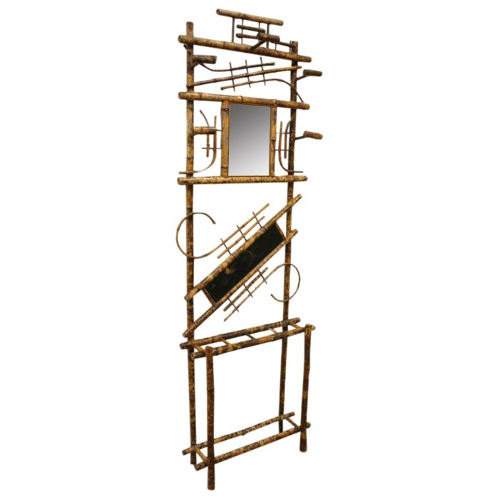 Chinese Style Bamboo Hall Stand