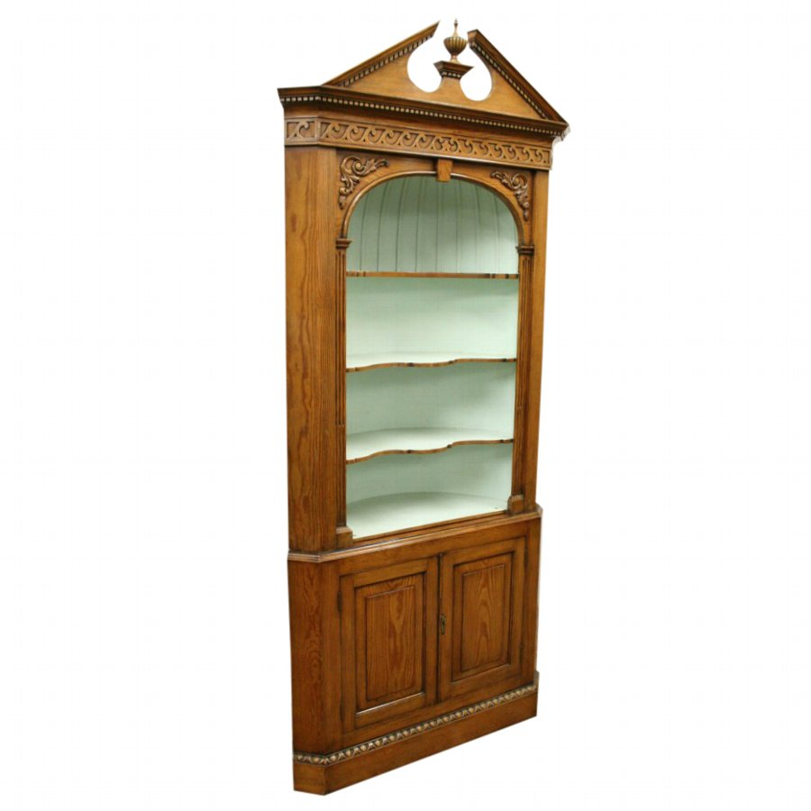 Neo Classical Style Pine Corner Cupboard