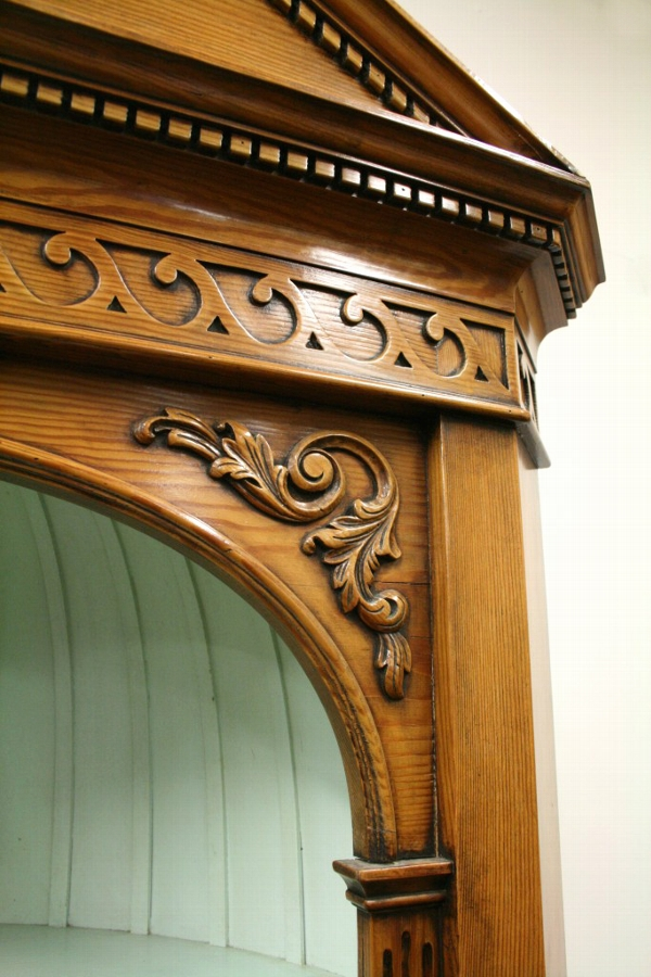 Antique Neo Classical Style Pine Corner Cupboard