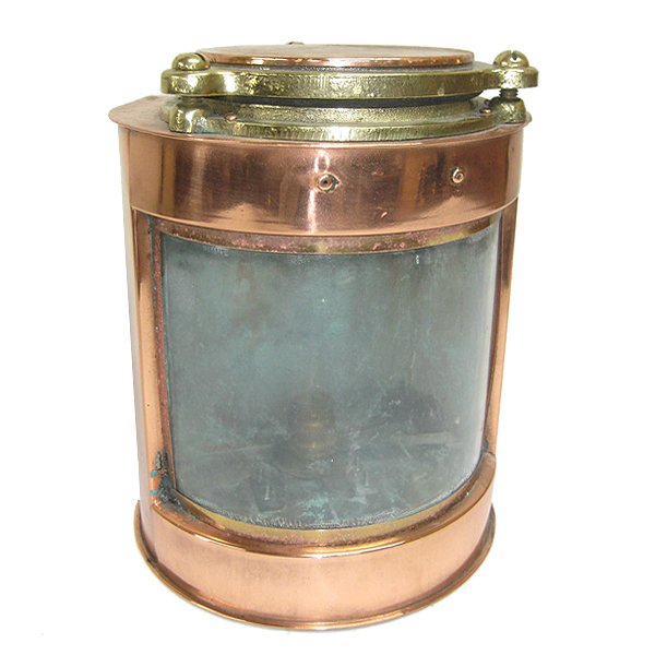 Neat Sized Brass and Copper Ships Lantern