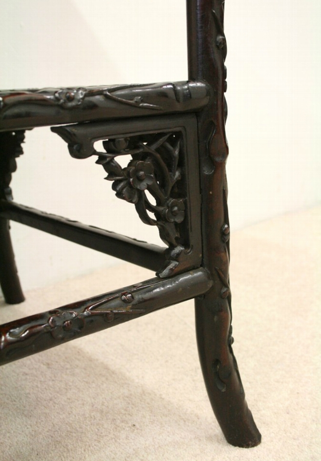Antique Chinese 2 Tier Occasional Table