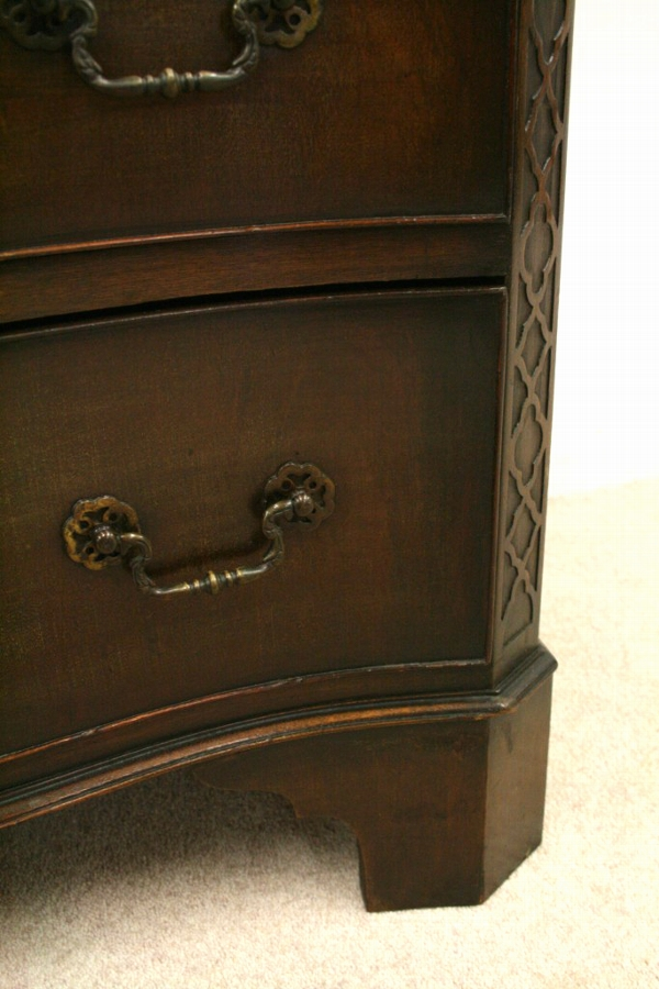 Antique George III Style Serpentine Chest on Chest