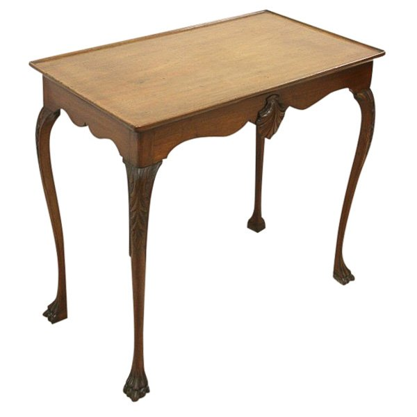 George II Style Mahogany Irish Silver Table