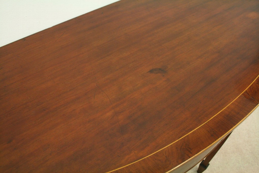 Antique George III Style Inlaid Mahogany Hall Table