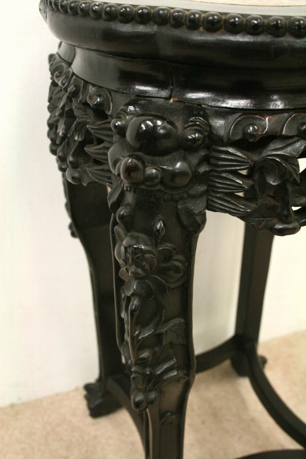 Antique Chinese Marble Top Stand
