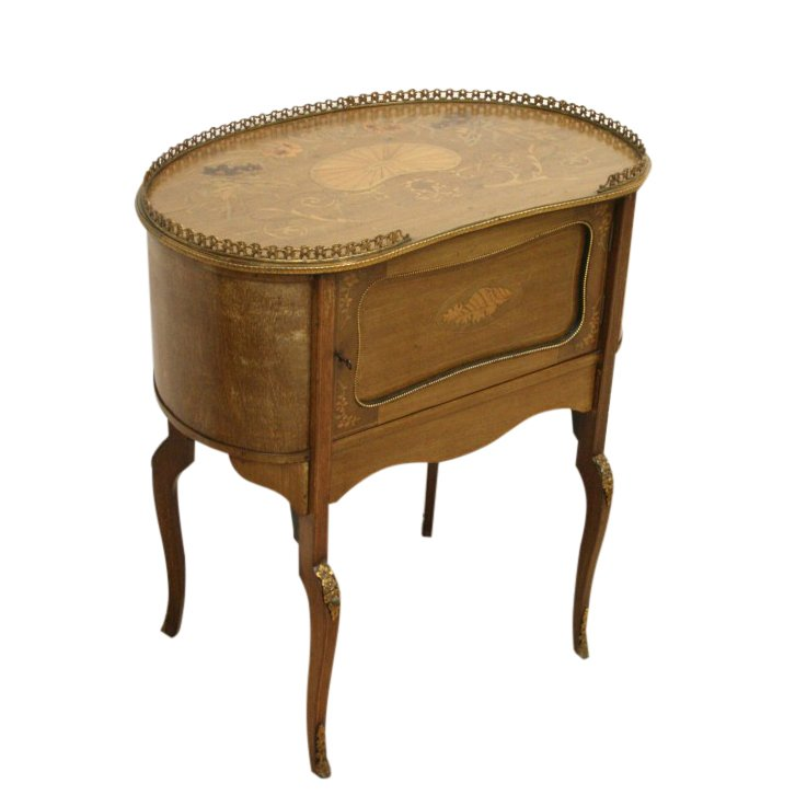 Late Victorian Marquetry Side Table/Cabinet