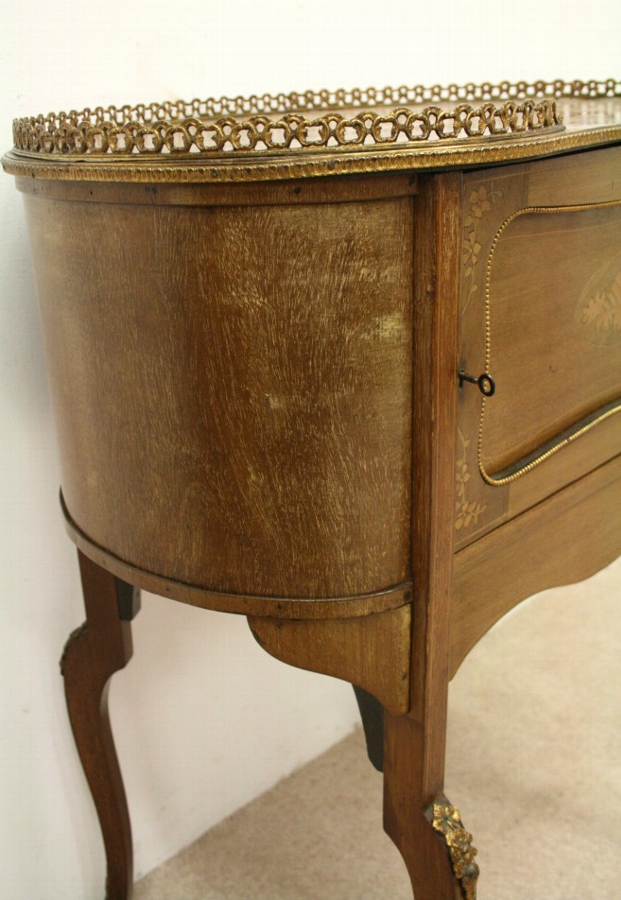 Antique Late Victorian Marquetry Side Table/Cabinet