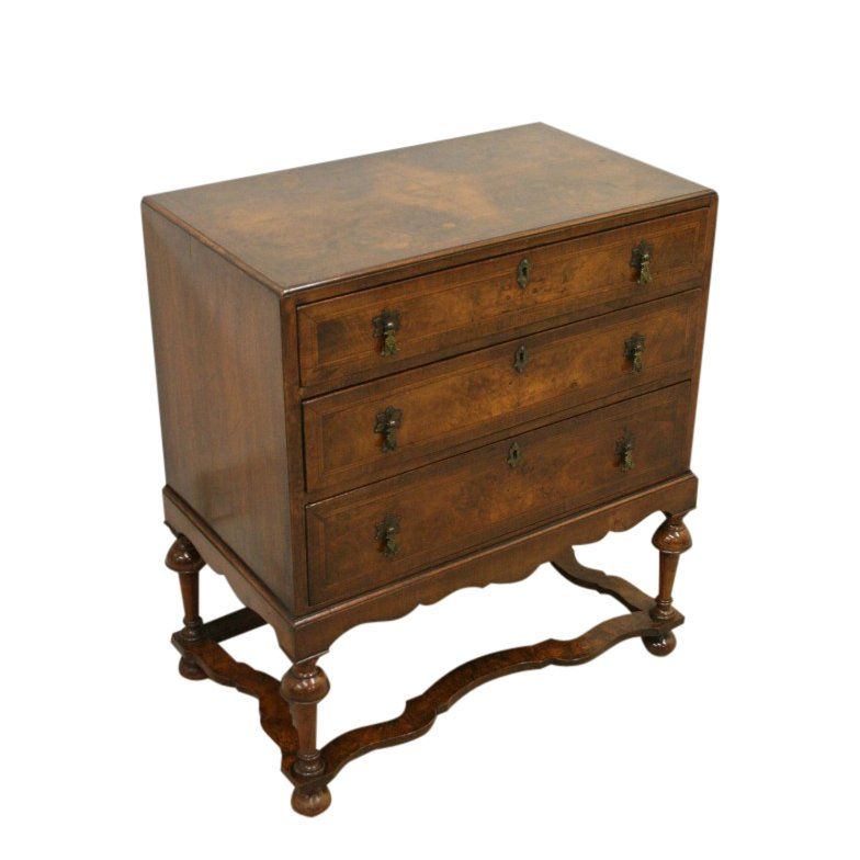 William & Mary Style Burr Walnut Chest
