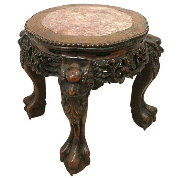 Low Chinese Marble Top Stand