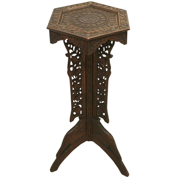 Eastern Carved Occasional Table