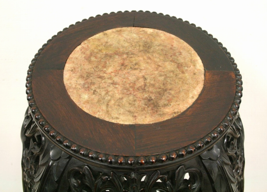 Antique Carved Rosewood Chinese Stand