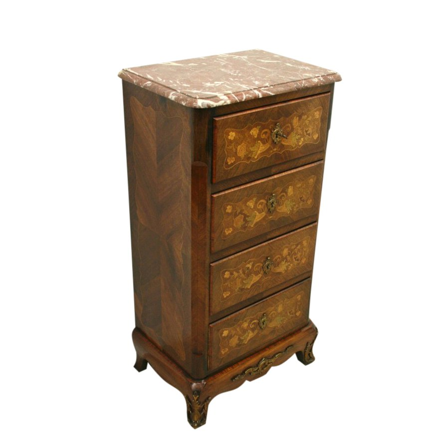 Marquetry Inlaid Kingwood Secretaire Chest