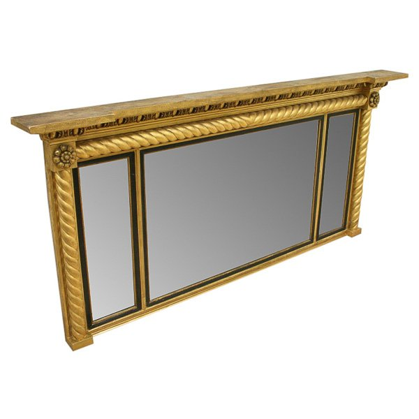 William IV Triptych Overmantel Mirror