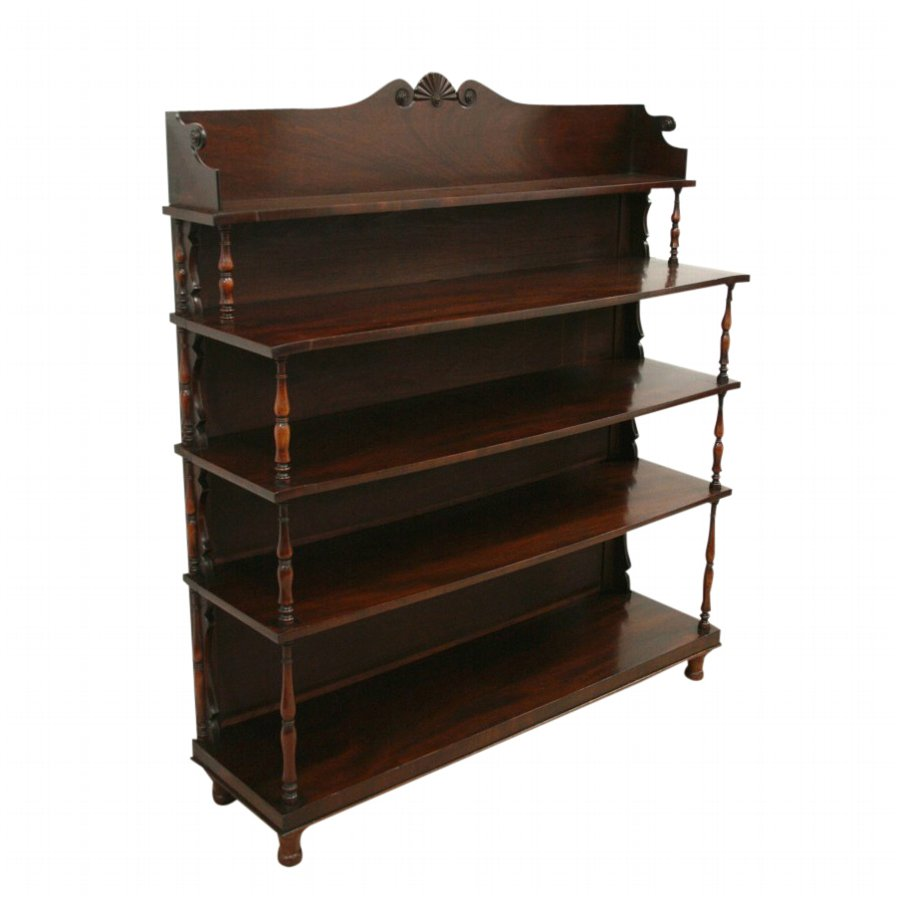 Irish George IV Mahogany Bookcase/Whatnot
