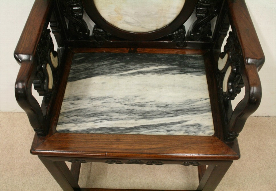 Antique Chinese Rosewood Hall Chair