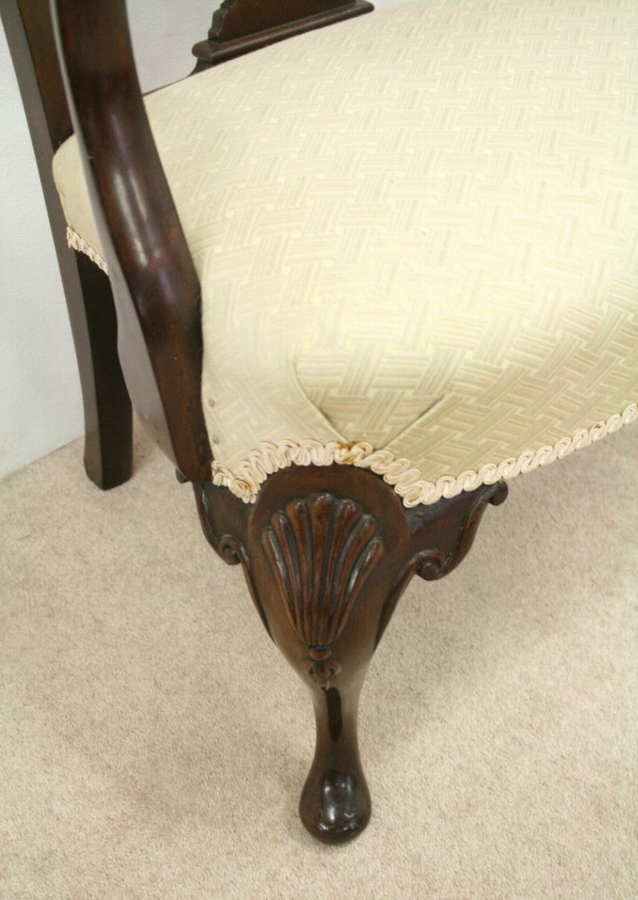 Antique George II Style Mahogany Child's Chair