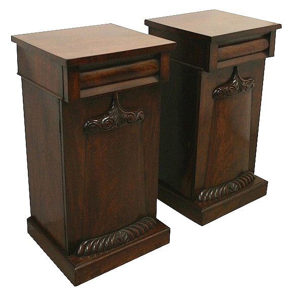 Pair of Early Victorian Mahogany Cabinets
