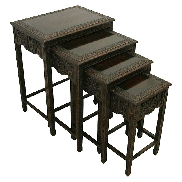 Nest of 4 Chinese Tables
