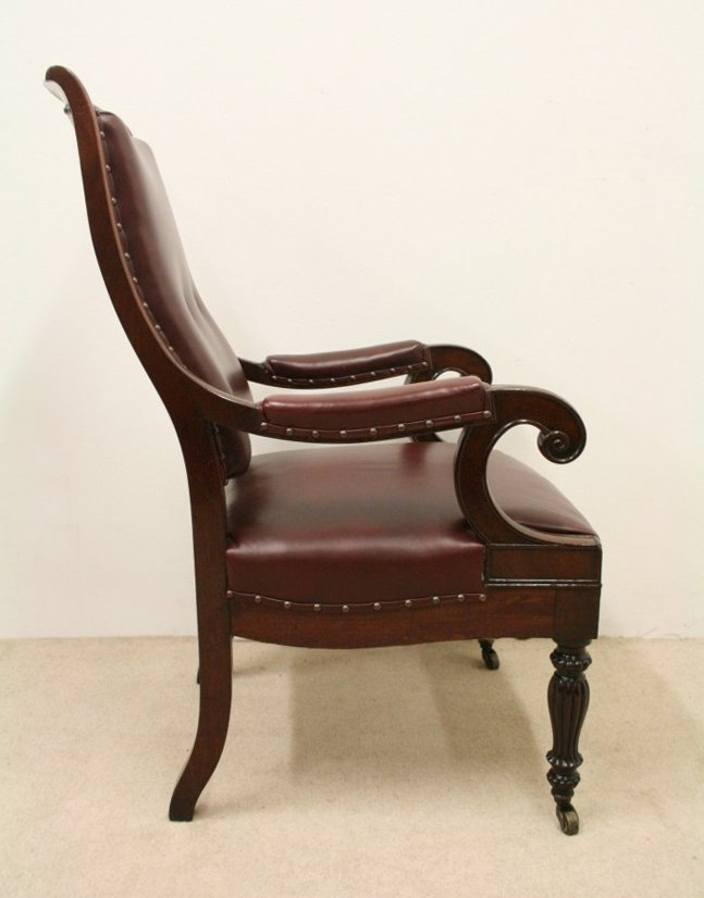 Antique Pair of William IV Library Chairs/Armchairs