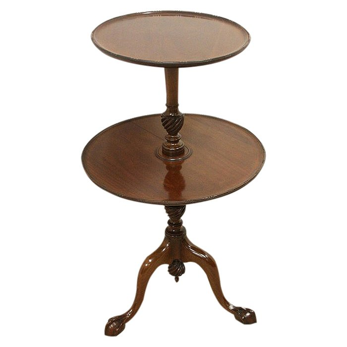 Mahogany Two Tier Occasional Table/Dumb Waiter