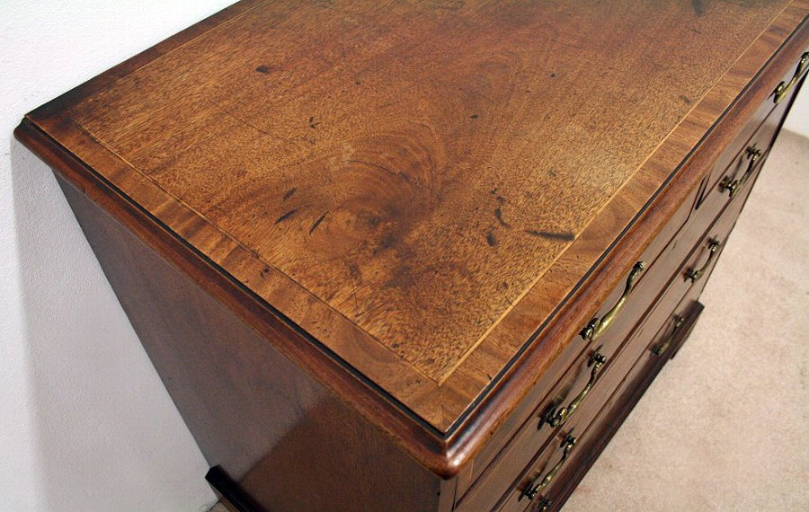 Antique Early George III Mahogany Inlaid Chest of Drawers