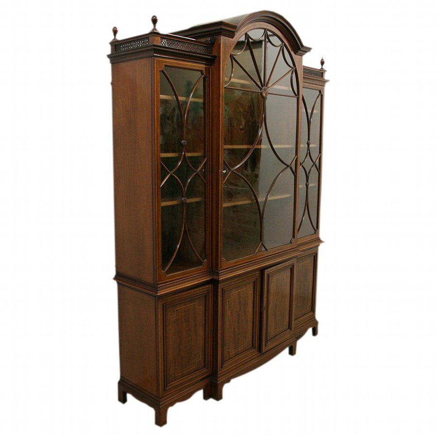 Victorian Mahogany 4 Door Display Cabinet