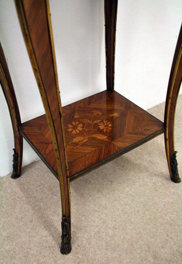 Antique French Marquetry Kingwood Occasional Table