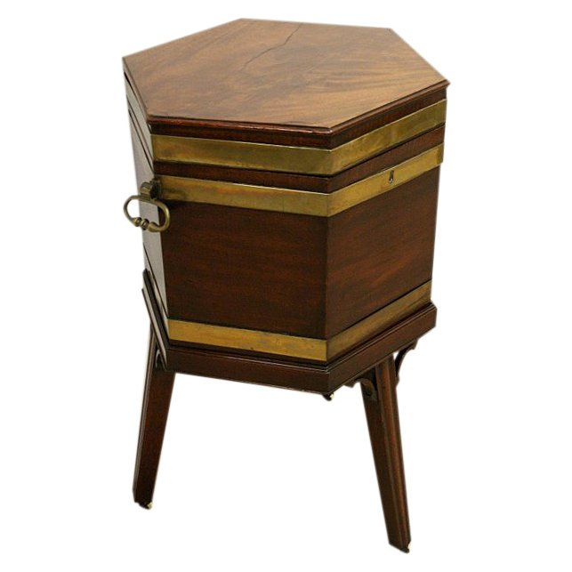 George III Mahogany Wine Cooler on Stand