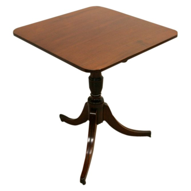 George IV Mahogany Snap Top Occasional Table