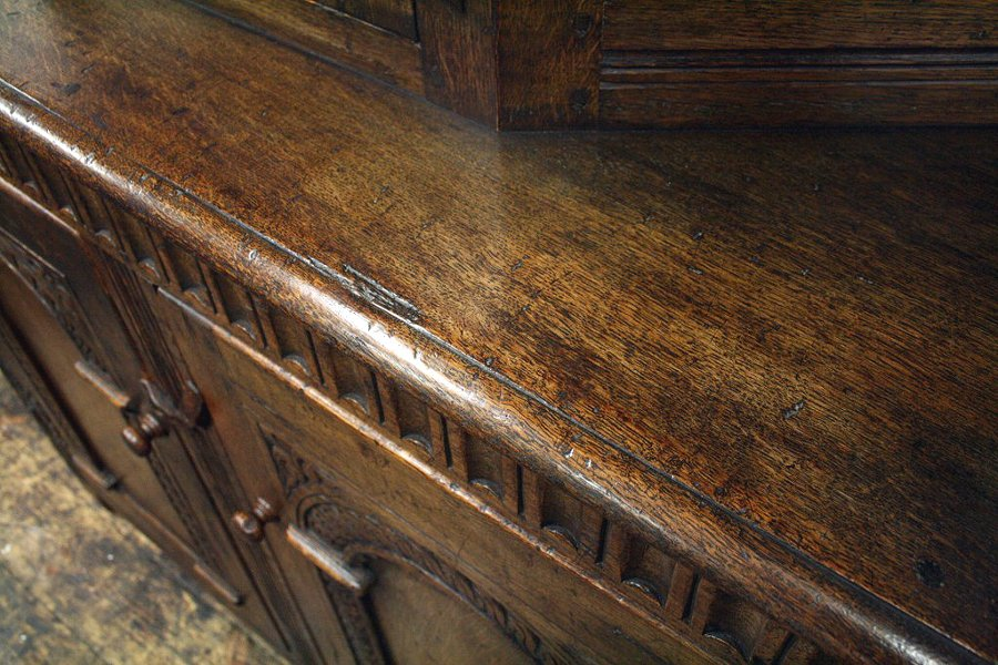 Antique Jacobean Style Oak Buffet