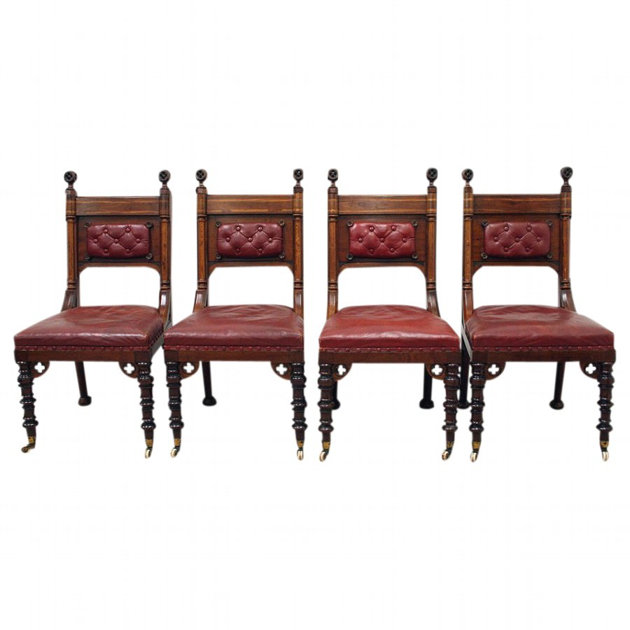 Set of 4 Chairs Attributed to E W Godwin