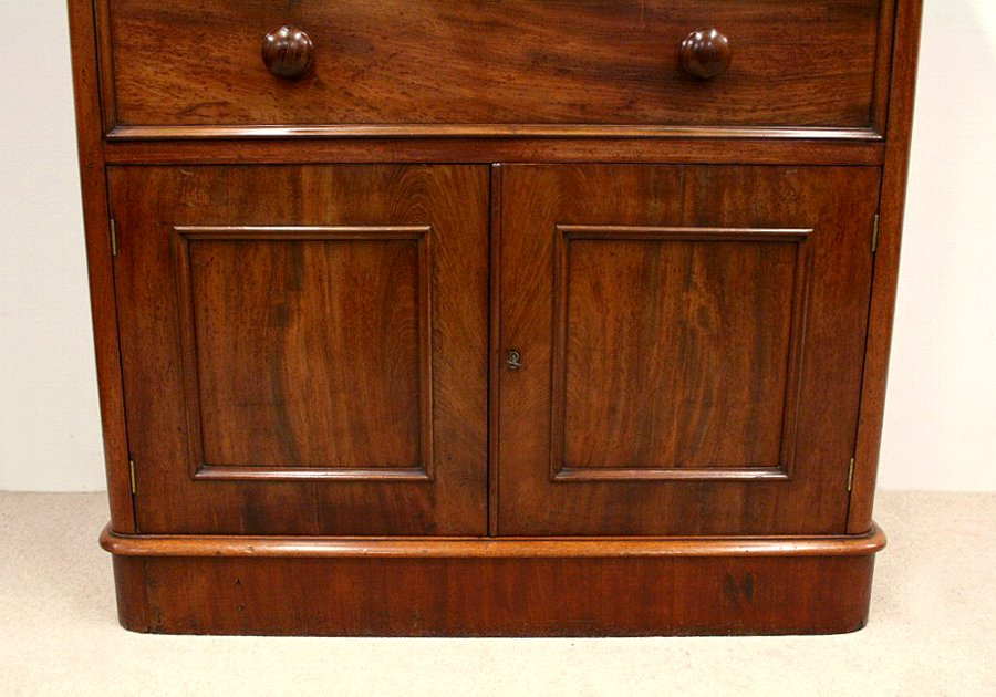 Antique Victorian Mahogany Chest of Drawers/Side Cabinet