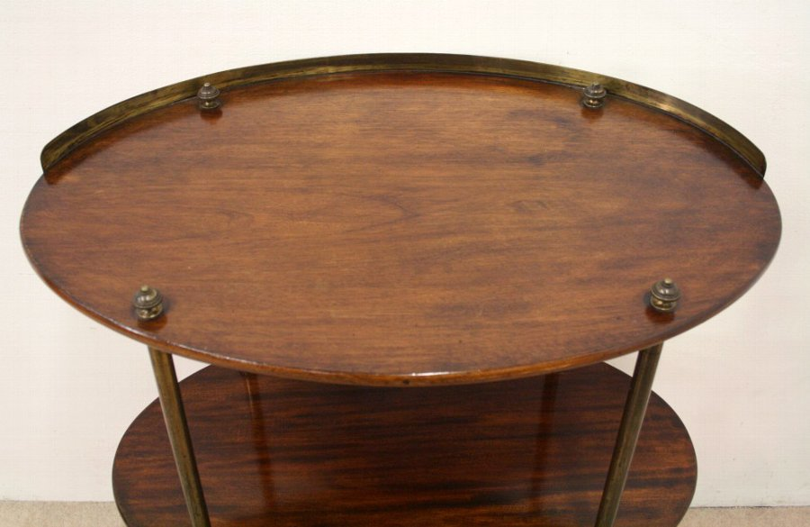 Antique William IV Military Mahogany Occasional Table