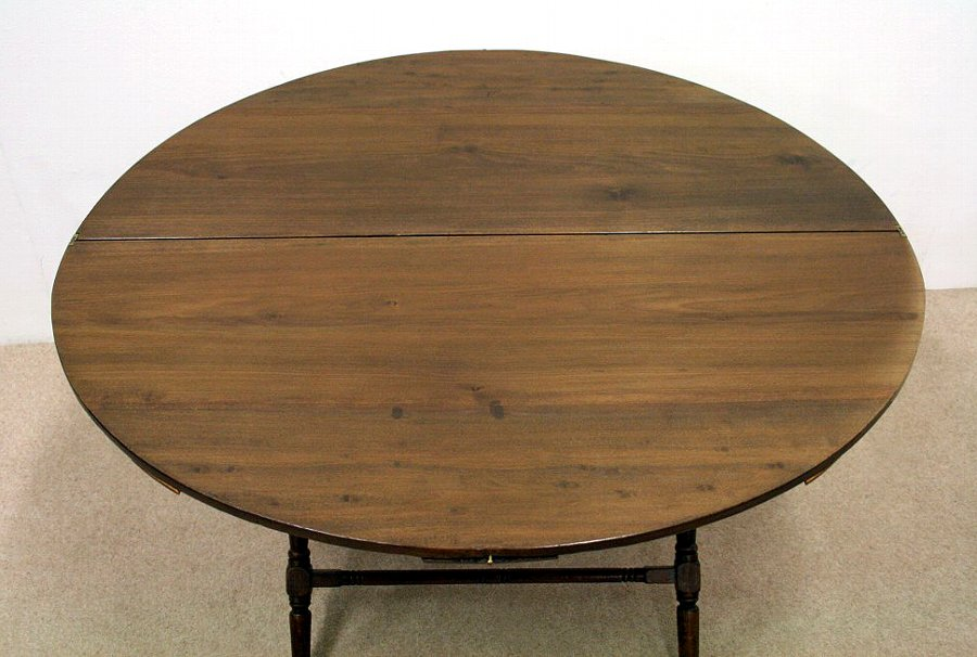 Antique Late Victorian Stained Beech Coaching Table