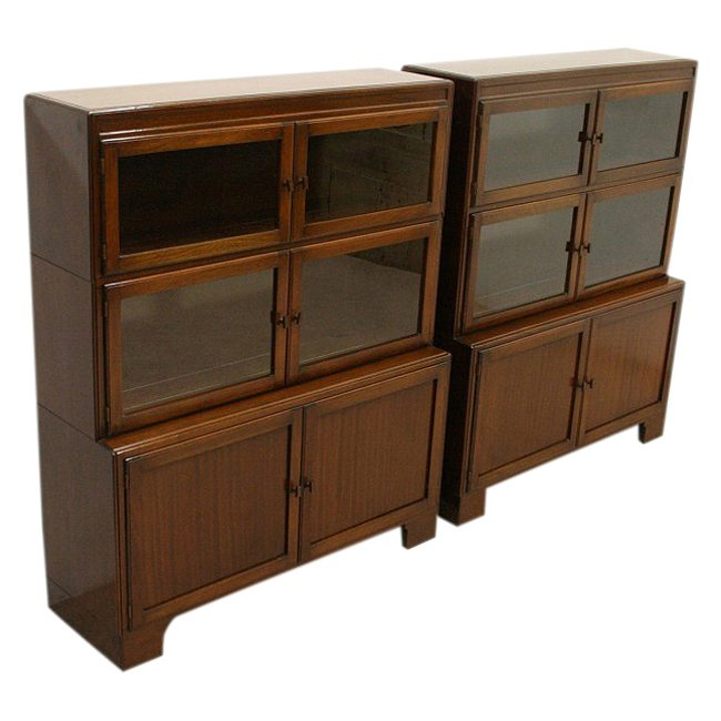 Pair of Mahogany Sectional/Stacker Bookcases