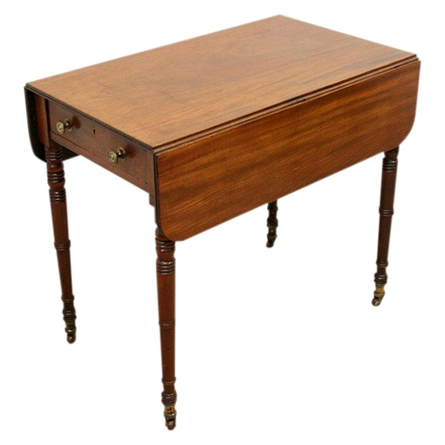 Late George III Mahogany Pembroke Table