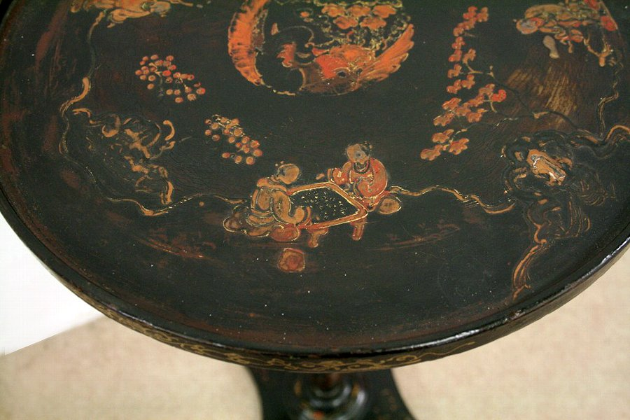 Antique Victorian Chinoiserie Occasional Table