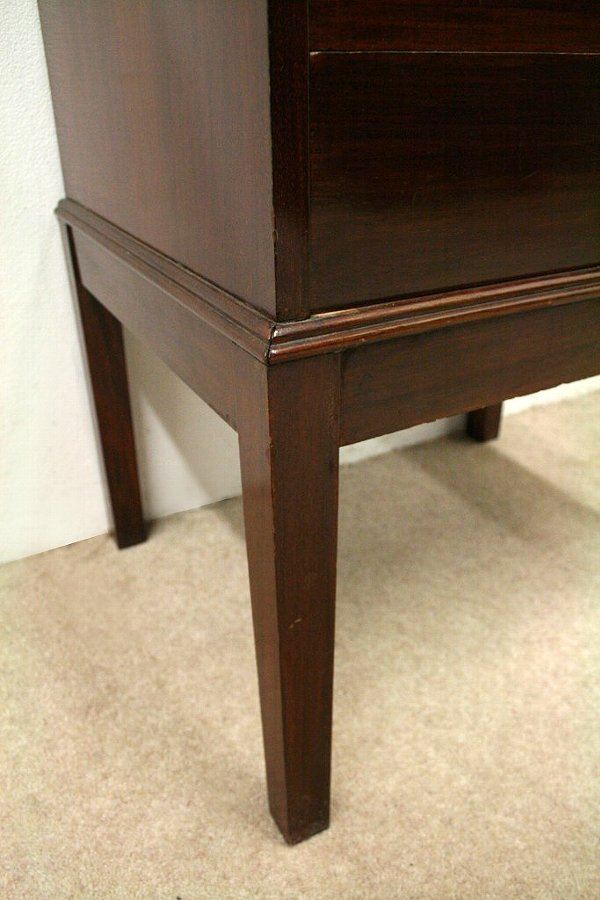 Antique Art Deco Mahogany Music Cabinet